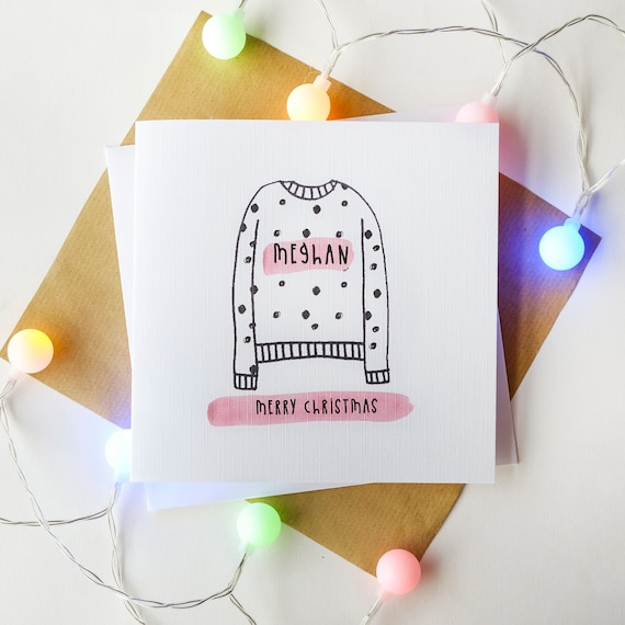 Personalised Christmas Jumper card.