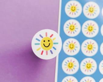 Sunshine sticker sheet - Weather stickers - Planning Stickers - daily stickers