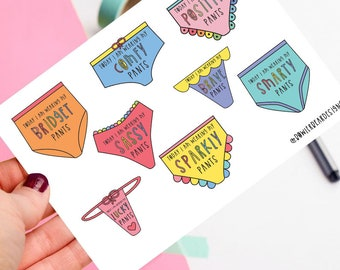 Pants - Positive postcard - motivational illustration