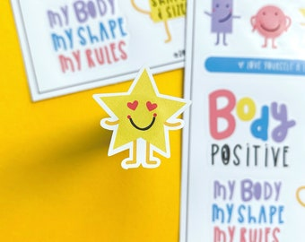Body Positivity Sticker sheet - Journalling Stickers