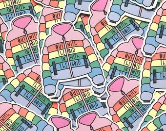 Colourful Rainbow Sticker - Rainbow vinyl  - Motivational sticker - Mental health sticker