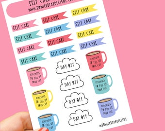 Self Care Sticker sheet - Functional stickers - Planning Stickers