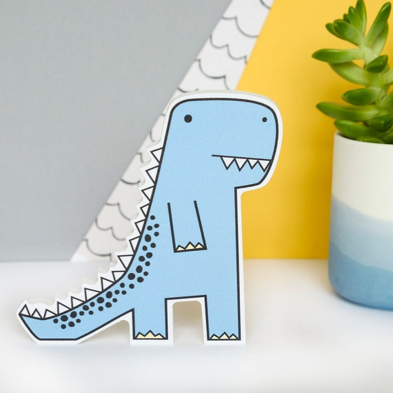 T-Rex - Nursery decor - Dinosaur nursery wall art - Dinosaur birthday gift - Dinosaur shelf accessory