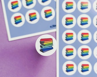 I read a book Sticker sheet - Rainbow sheet - Planning Stickers - Daily stickers
