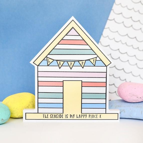 Happy place - happy huts - home accessory - bathroom decor - seaside quote