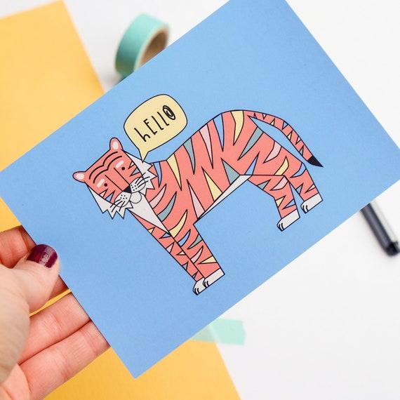 Positive Postcard - Hello Tiger