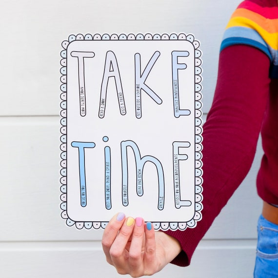 Self care sign - Motivational art
