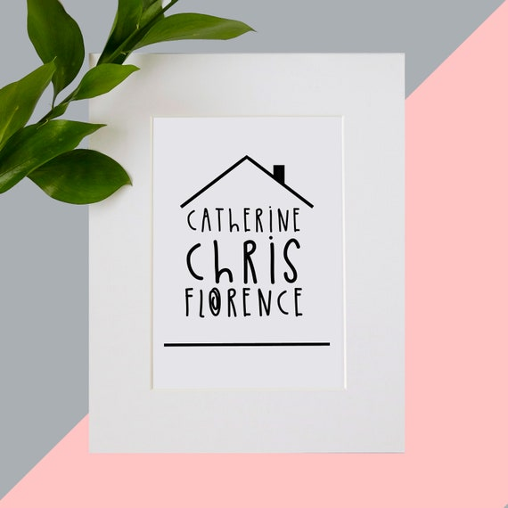 New home family name print. Personalise me!