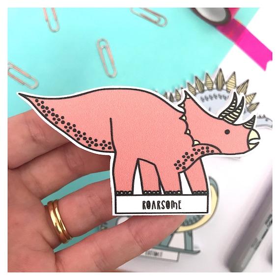 Fridge magnets. Dinosaur themed gift.