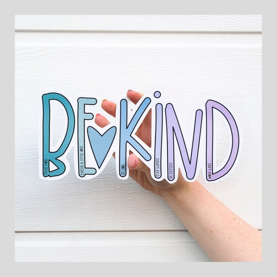 Be Kind - Positive quote print - Motivational wall art