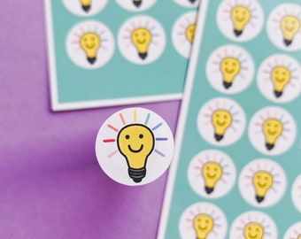 Lightbulb sticker sheet - Idea's sticker sheet - Planning Stickers