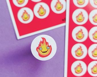 Calcifer sticker sheet - Fire sheet - Planning Stickers - Howls moving castle