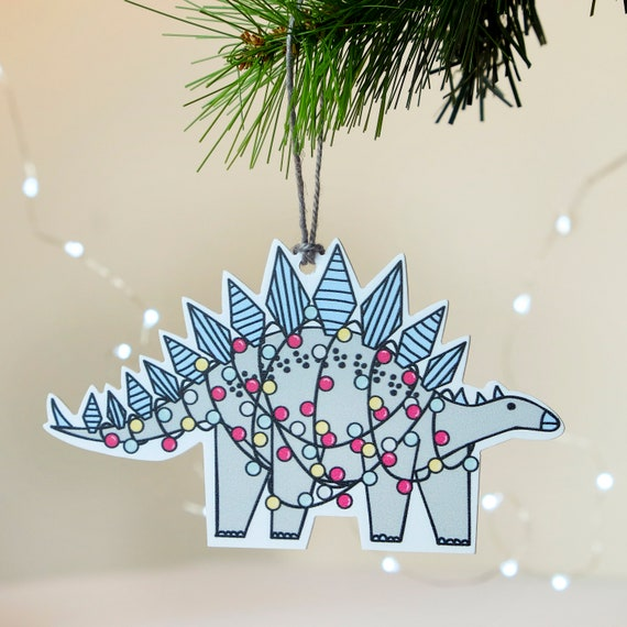Dinosaur Christmas Decorations - Stegosaurus