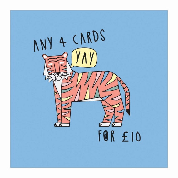 Birthday Card pack - Mix & match - you choose - 4for10 - Card bundle