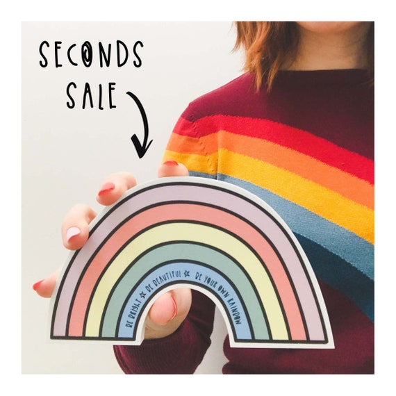 SECONDS SALE - Freestanding Rainbow shelfie