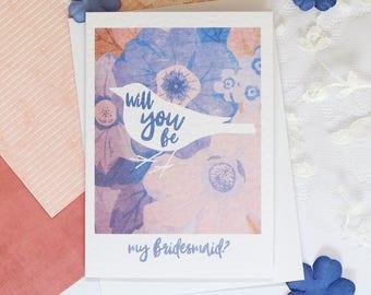 Bridesmaid card, Will you be my Bridesmaid? Bridesmaid invite, Bridesmaid proposal card, Will you be, Custom card, Personalised, Bride Squad