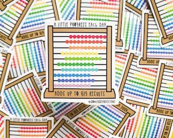 Abacus Sticker - Motivational Sticker - Positive Vinyl