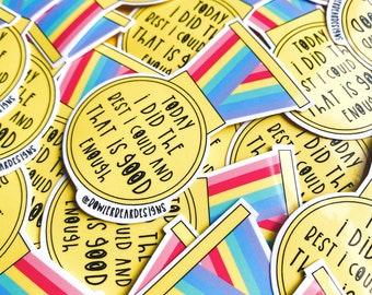 Medal Sticker - Mental health sticker - Wellbeing sticker
