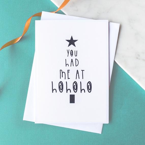 Funny, Novelty Christmas card - HOHOHO