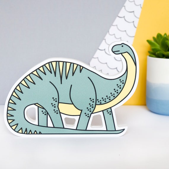 Diplodocus - Nursery decor - Dinosaur birthday gift - Dinosaur shelfie - Dinosaur Bedroom wall art