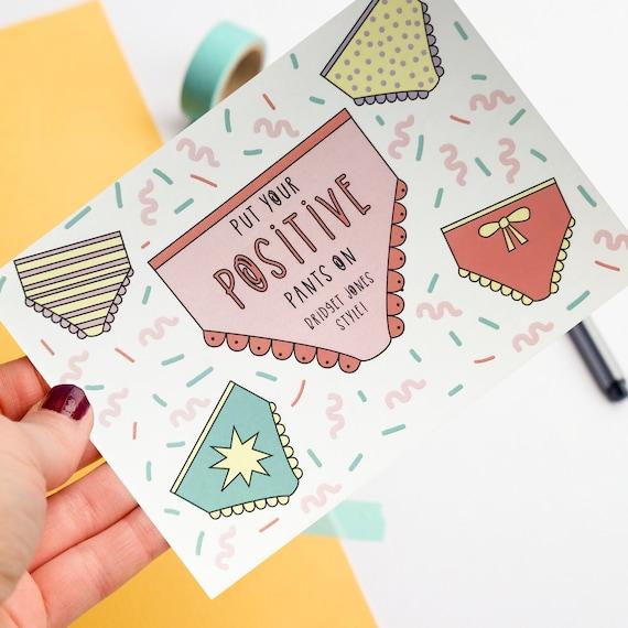 Positive Postcard - Positive pants - Postcard print