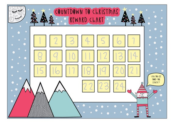 Christmas countdown Reward Chart