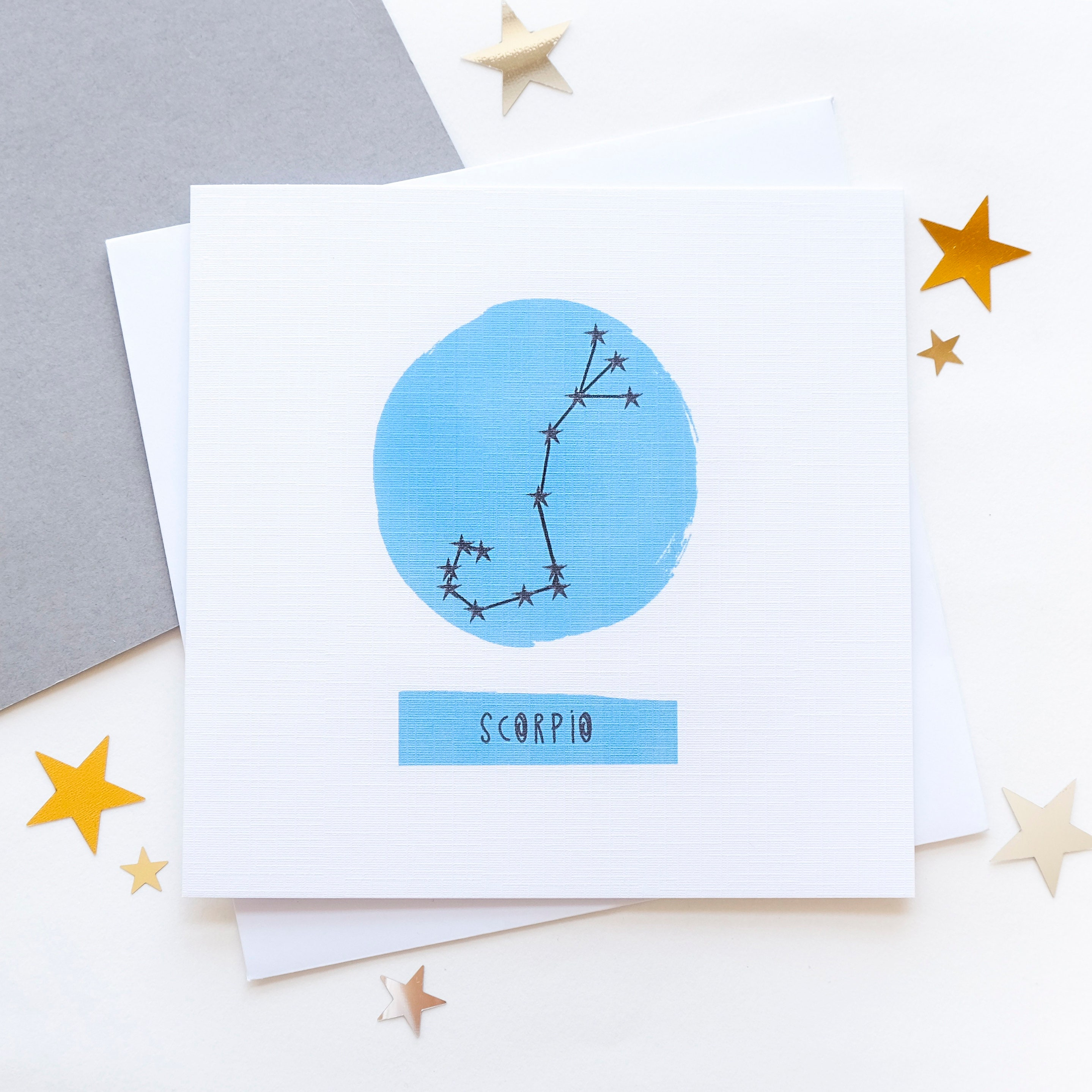 Scorpio Star Sign Zodiac Birthday Card October November Constellation Chart Astrology Horoscope