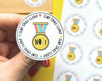 Shop small champ - Small business stickers - Packaging label