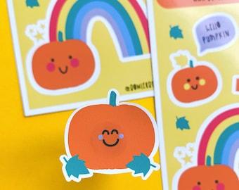 Pumpkins and Rainbows Sticker sheet - Halloween Stickers - Autumn Stickers for Journaling
