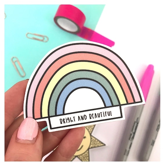 Rainbow fridge magnet - Affirmation magnet - motivational magnet