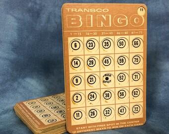 Vintage Set of 10 Thick Cardboard Bingo Cards, Crafting Craft Supply 501