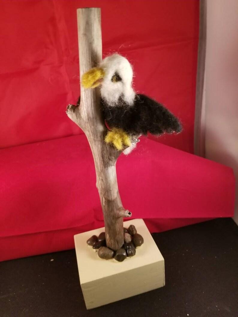Needle felt eagle