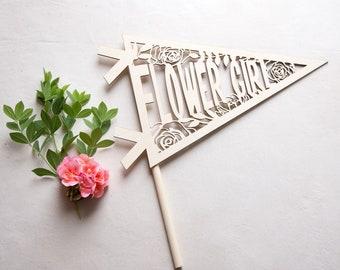 flower girl wedding gift banner prop wand