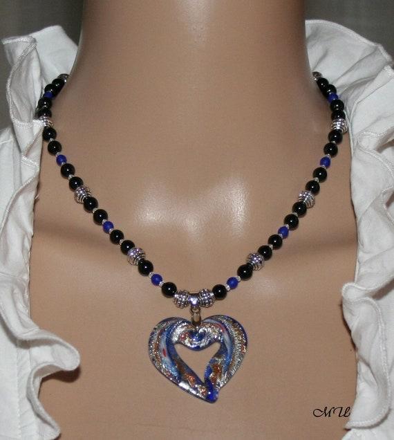 Pearl Necklace Purple Rhinestone Edelweiss Necklace Pendant Jewelry Dirndl