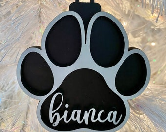 Paw Print Customizable Ornament