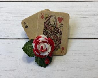 Queen of Hearts Inspired Brooch