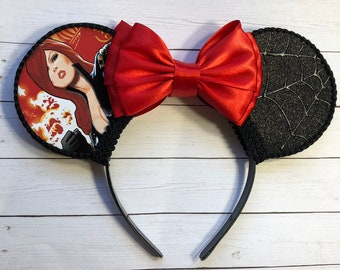 Black Widow Inspired Mouse Ears
