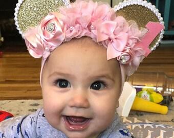 Infant Floral Comfort Mouse Ears