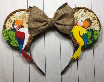 Tiki Room Inspired Mouse Ears