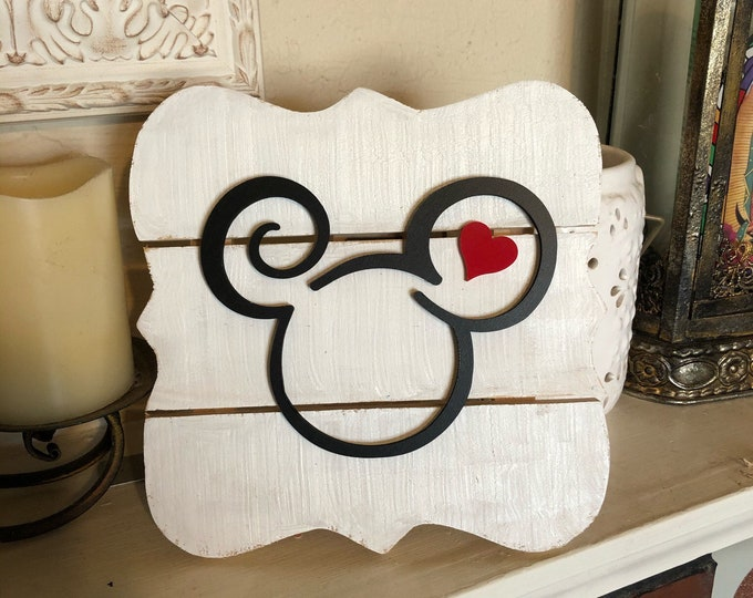 Mickey Love Inspired Sign