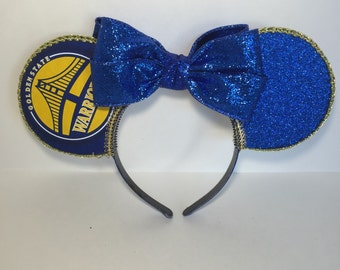 Golden State Warriors Inspired Mouse Ears