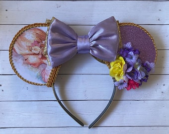 Rapunzel Watercolor Inspired Mouse Ears