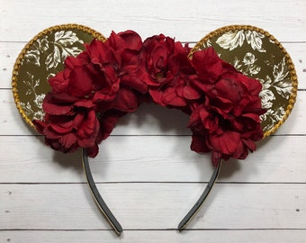 Beauty and the Beast inspired Floral Ears