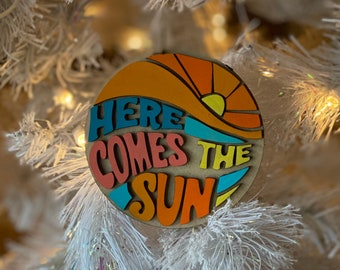 Beatles Here Come The Sun Inspired Ornament
