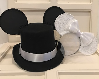 Bride and Groom Inspired Mouse Ears