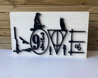 Harry Potter Themed Love Sign