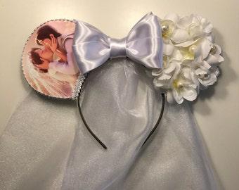 Bridal Rapunzel Inspired Mouse Ears