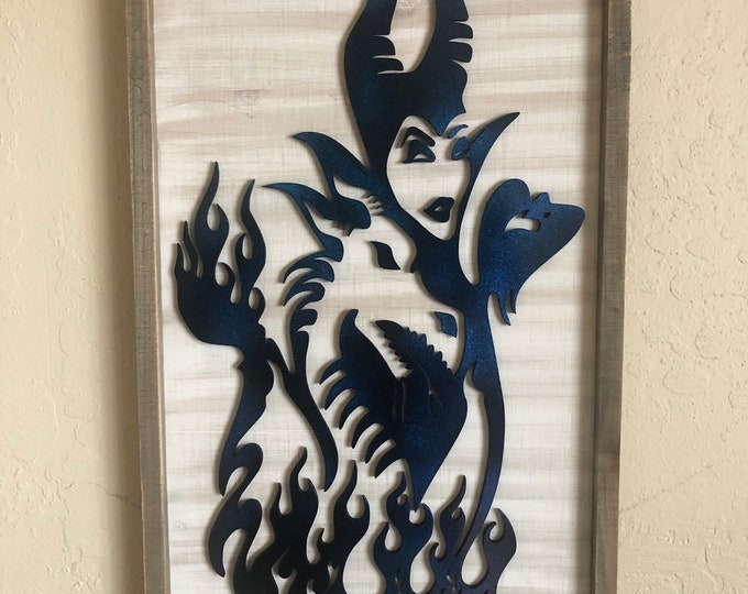 Maleficent Inspired Wall Sign