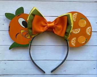 Wooden Orange Bird Inspired Mouse Ears