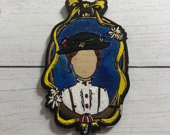 Mary Poppins Inspired Brooch